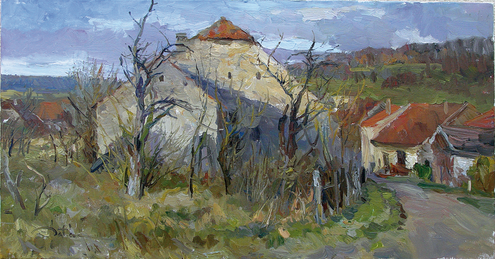 Kirill Datsouk, Monsee, Lorain, olej na płótnie, 50 x 100 cm, 2008