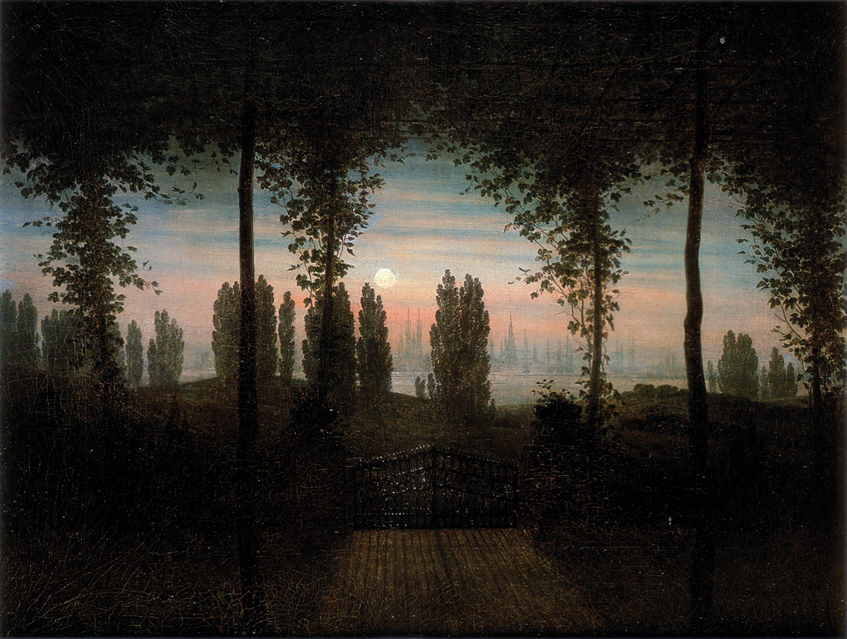 Caspar David Friedrich, Pamięci Johanna Emanuela Bremera, 1817, olej na płótnie, Stara Galeria Narodowa w Berlinie, d.p.
