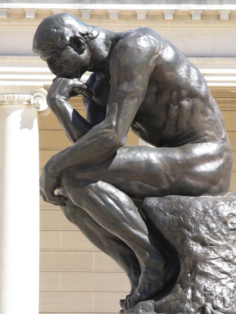 """Auguste Rodin, """"Myśliciel"""", 1902, Muzeum Rodina w Paryżu"""