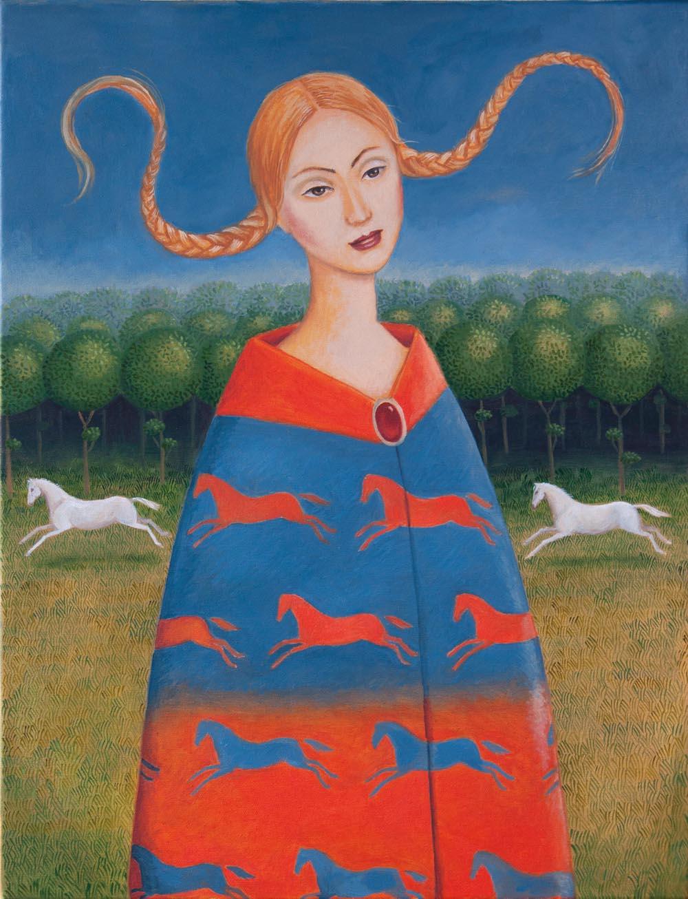 Malwina de Brade, Bez tytułu, olej na płótnie, 70 x 50 cm