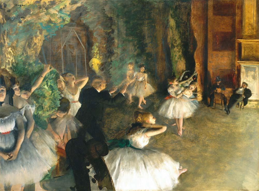 Edgar Degas, Próba baletowa na scenie, 1874, Metropolitan Muzeum, Nowy Jork