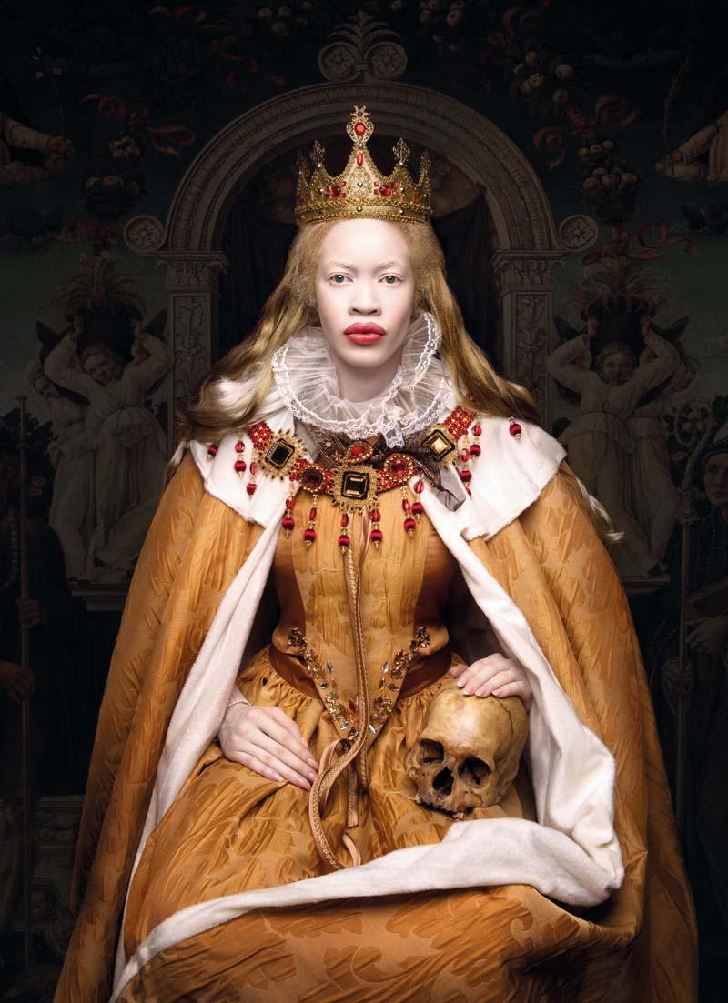 Elisabeth 1, modelka: Sylwia Makris, Diana Forest, 145 x 200 cm, fotodruk na płótnie, werniksy