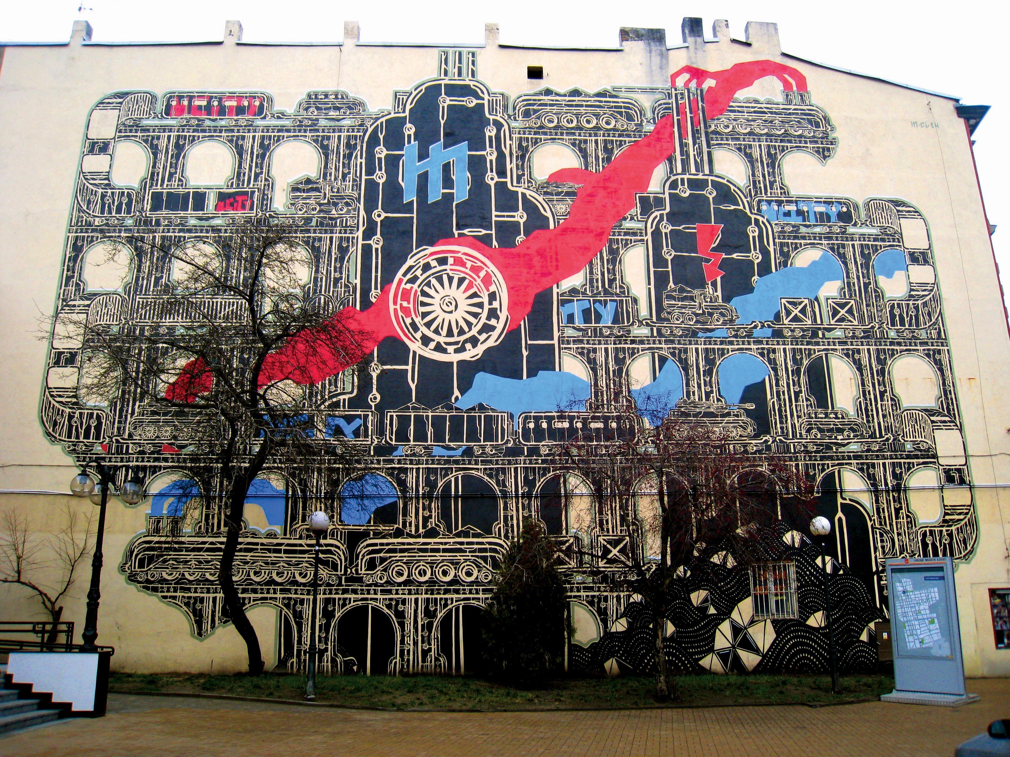 Mariusz Waras, m-city, street art