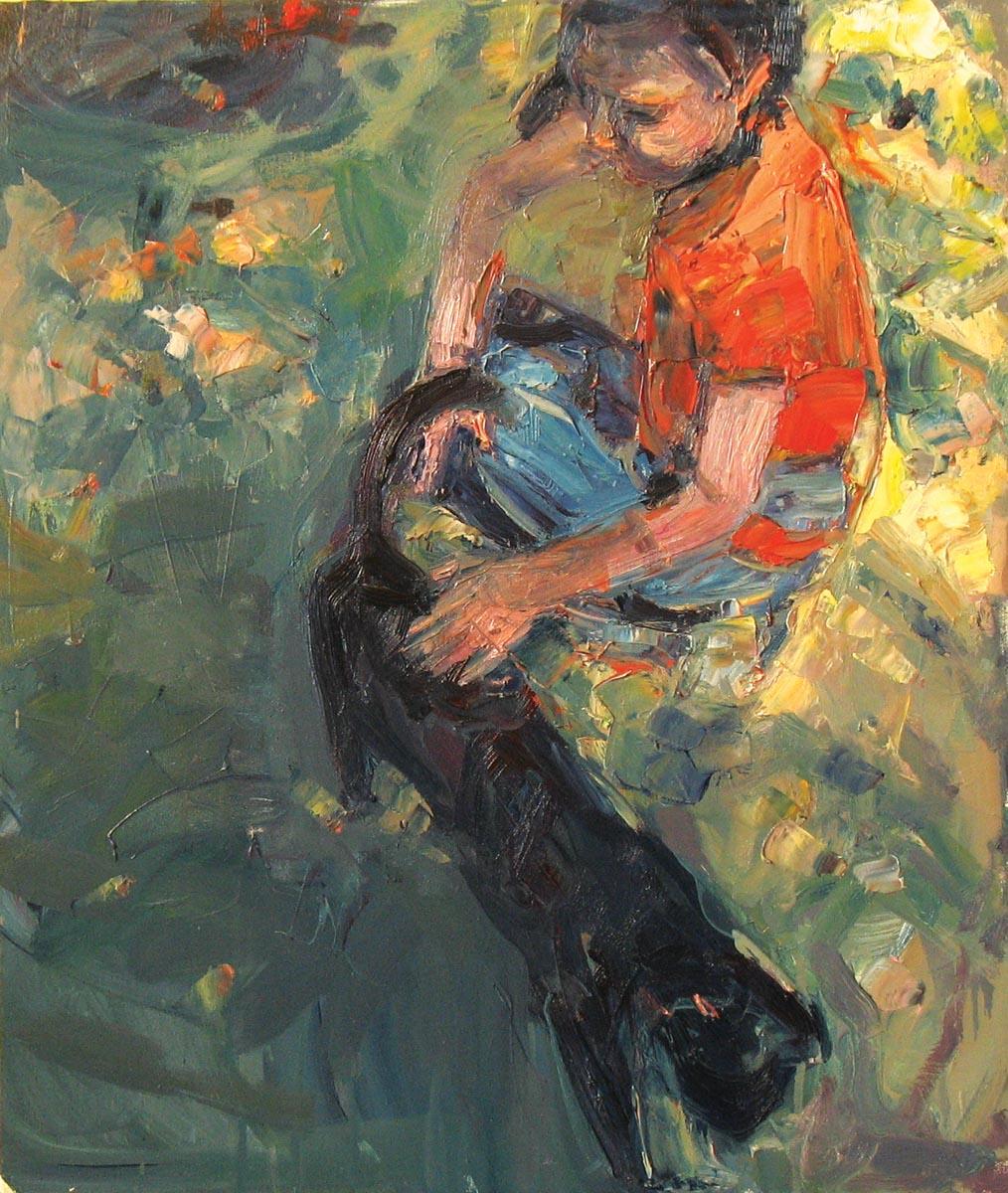 Marta lipowska, Kotek, olej na płótnie, 70 x 60cm