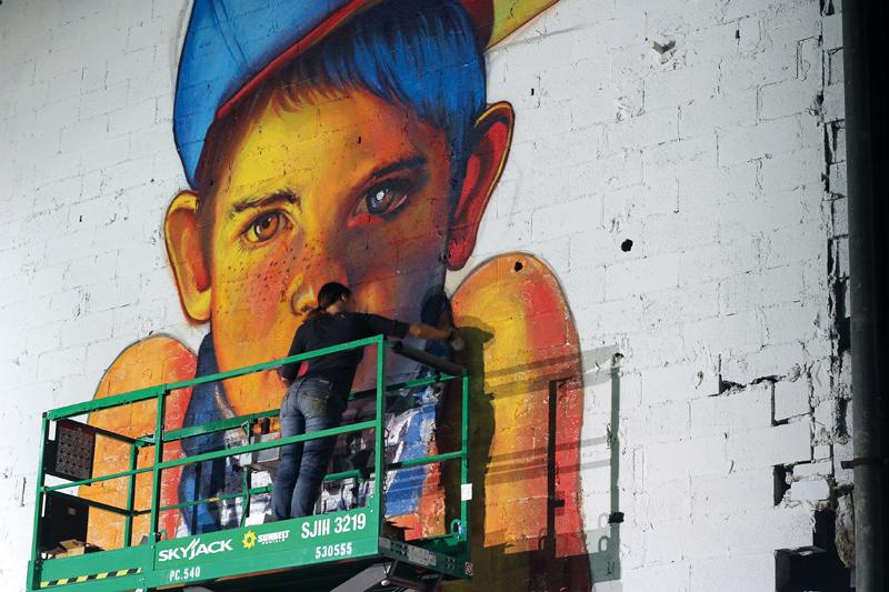 Natalia Rak, street art, streetart, murale, mural, magazyn