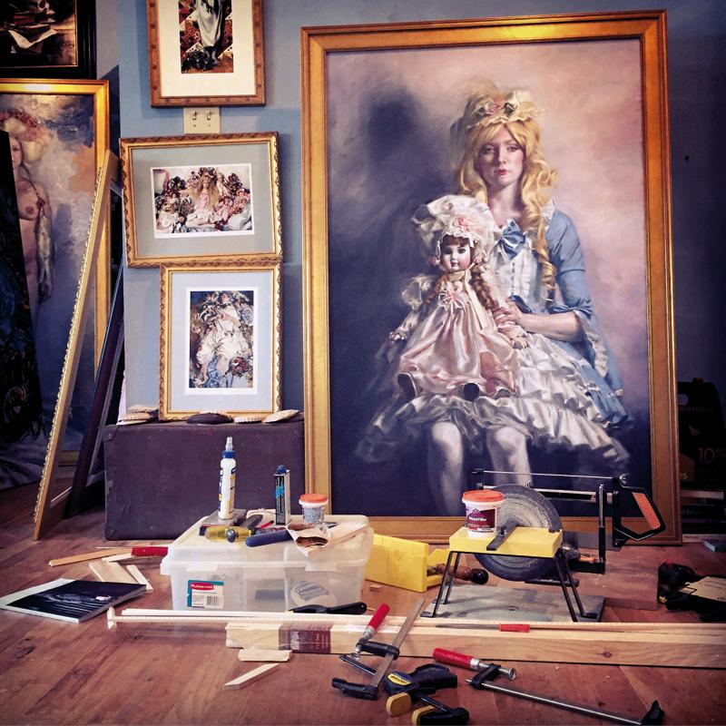 Teresa Oaxaca, wiktorian, obrazy olejne, malarka, okres wiktoriański, malarstwo olejne, pracownia