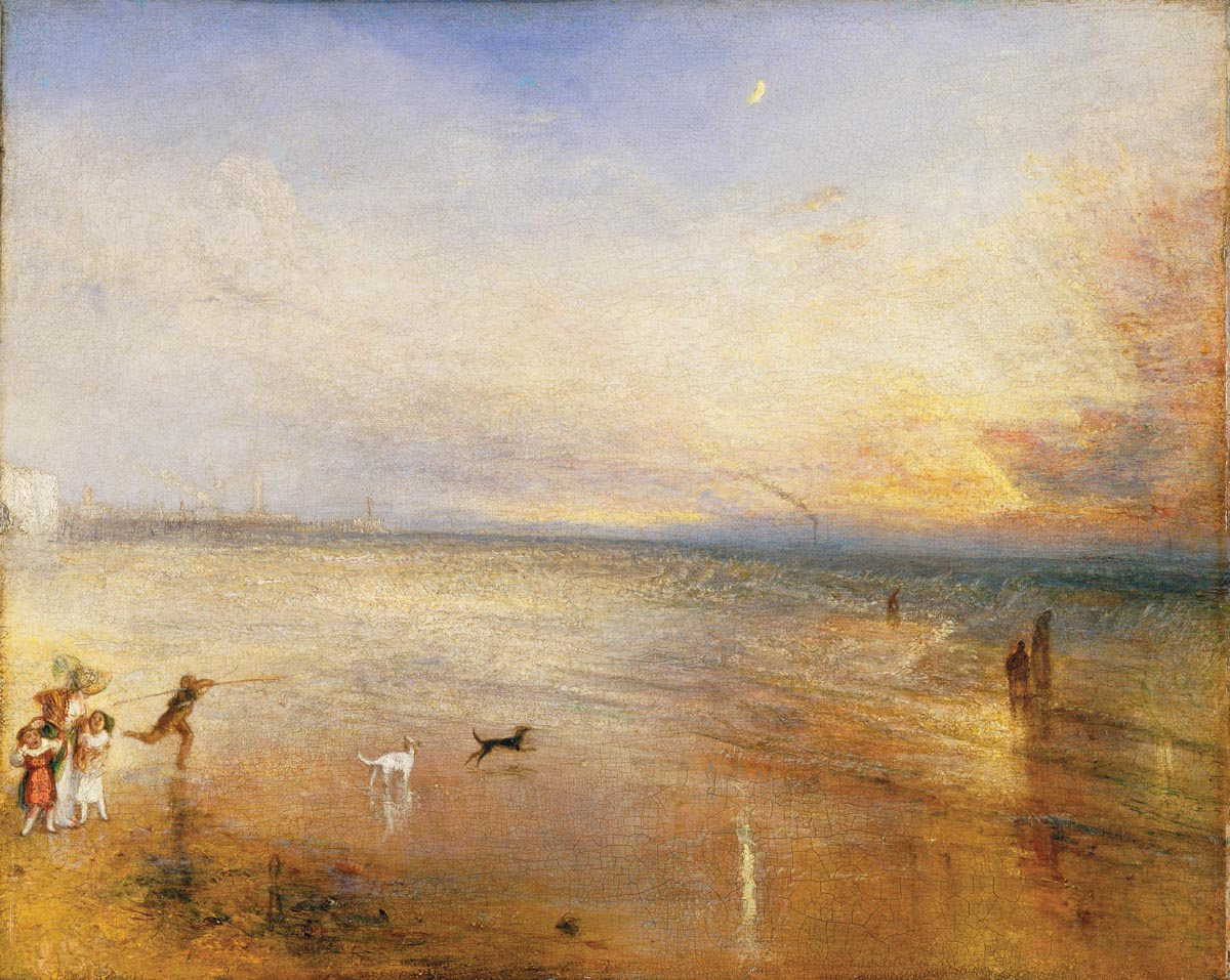 "William Turner The New Moon; or, ""I've lost My Boat, You shan't have Your Hoop"", vor 1840 The Tate Gallery, London, Digital Image © Tate, London 2010"