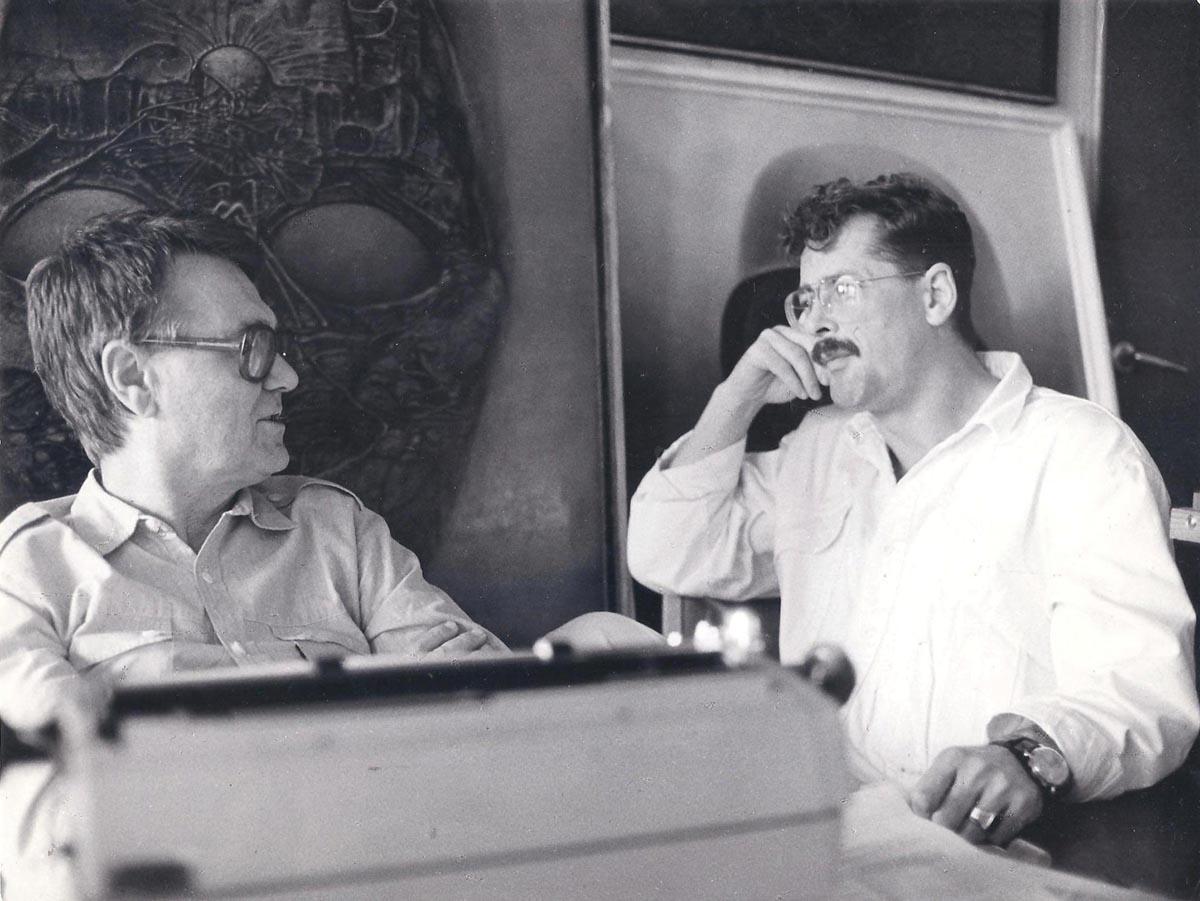 Zdzisław Beksiński i Piotr Dmochowski 1992 Zdzisław Beksiński, obrazy, surrealizm, sanok, muzeum w sanoku,