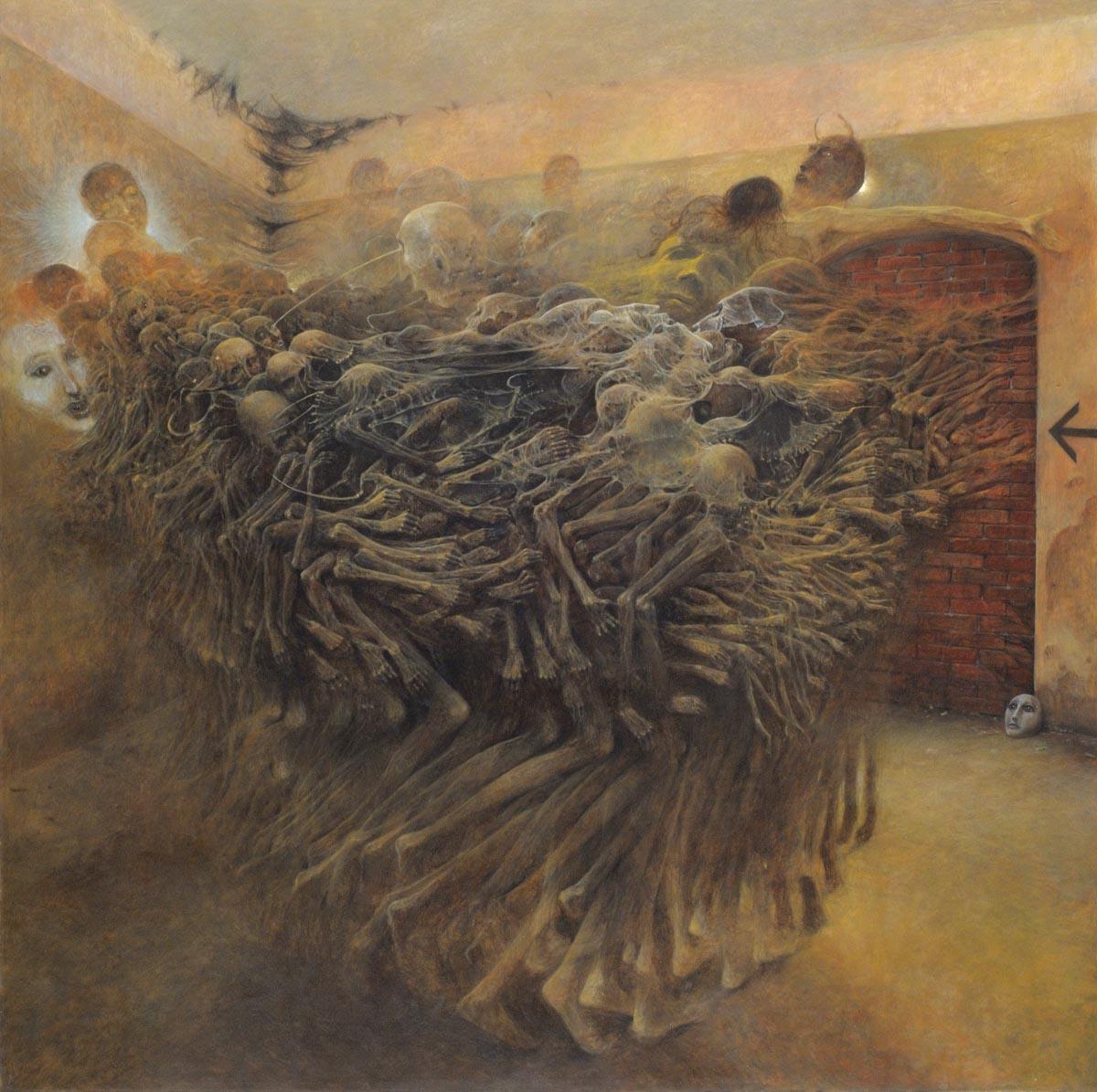 Zdzisław Beksiński, obrazy, surrealizm, sanok, muzeum w sanoku,