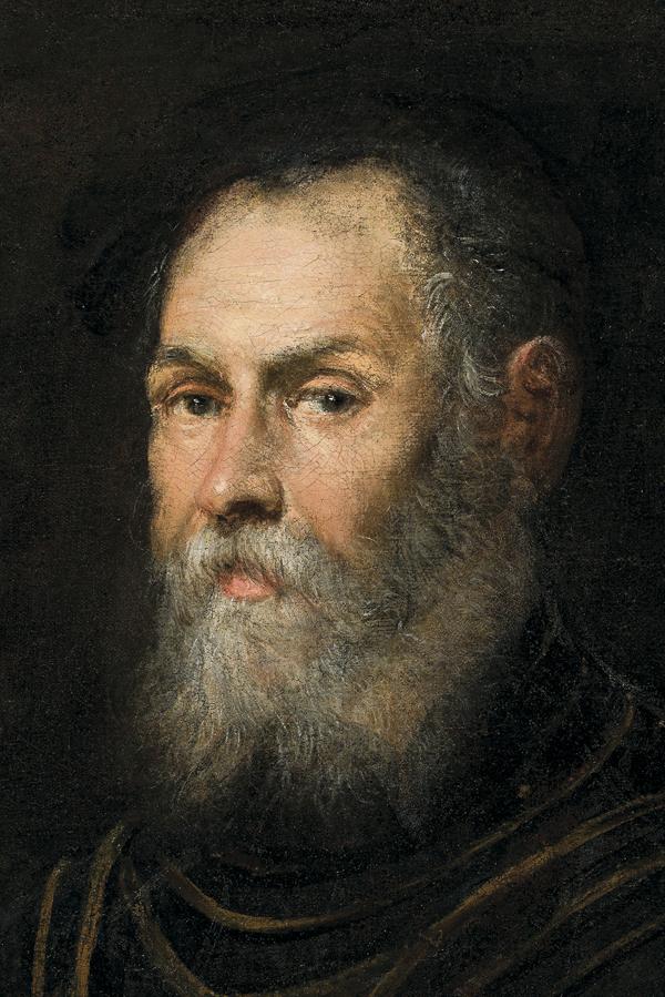 Jacopo Tintoretto, Portret weneckiego admirała (fragment), XVI w., olej na płótnie, 81 x 68, ©Copyright by Krzysztof Wilczyński/Muzeum Narodowe w Warszawie
