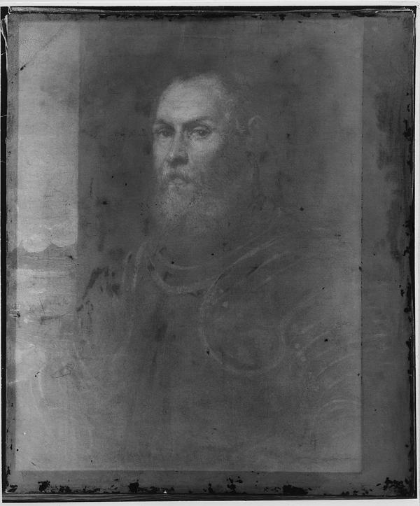 M.Ob.635; Tintoretto, Jacopo (1519-1594) (malarz); Wenecja; Portret weneckiego admira³a; XVI w.; olej; p³ótno; 81 x 68