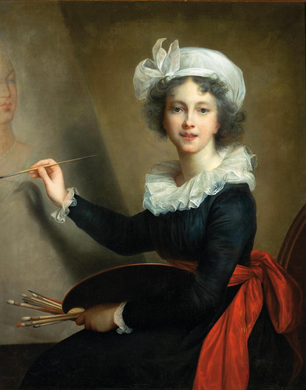 Élisabeth Vigée Le Brun, Autoportret, malarka francuska, najsłynniejsza malarka XVIII wieku, portrety królowej, portret olejny