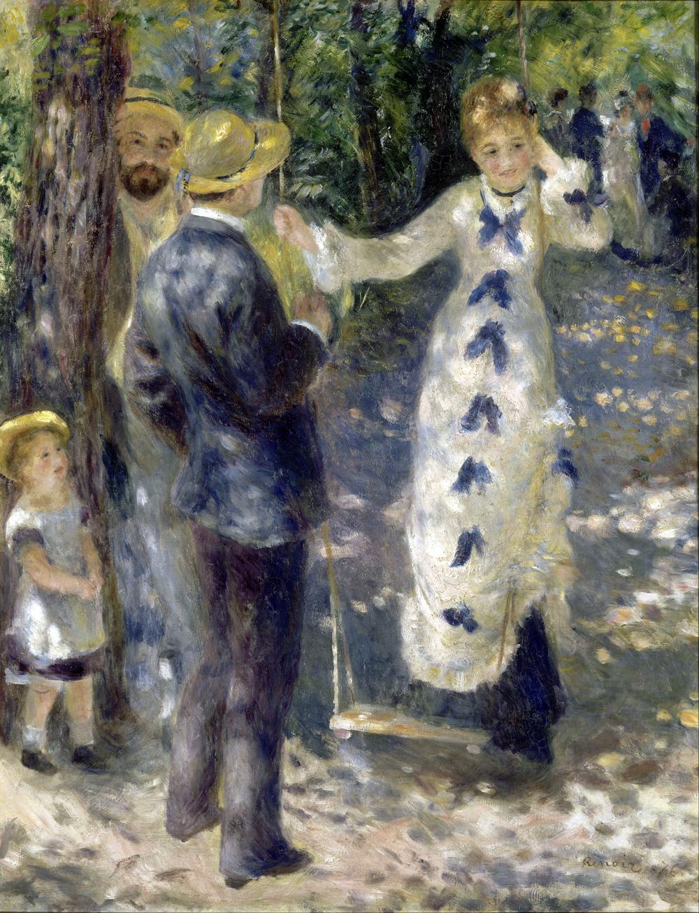 Pierre -Auguste Renoir, Huśtawka, 1876, MUZEUM d'ORSAY