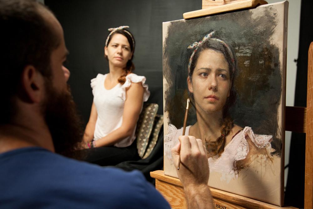 Cesar Santos, artysta i sztuka, malarstwo, portret, portrait, sztuka