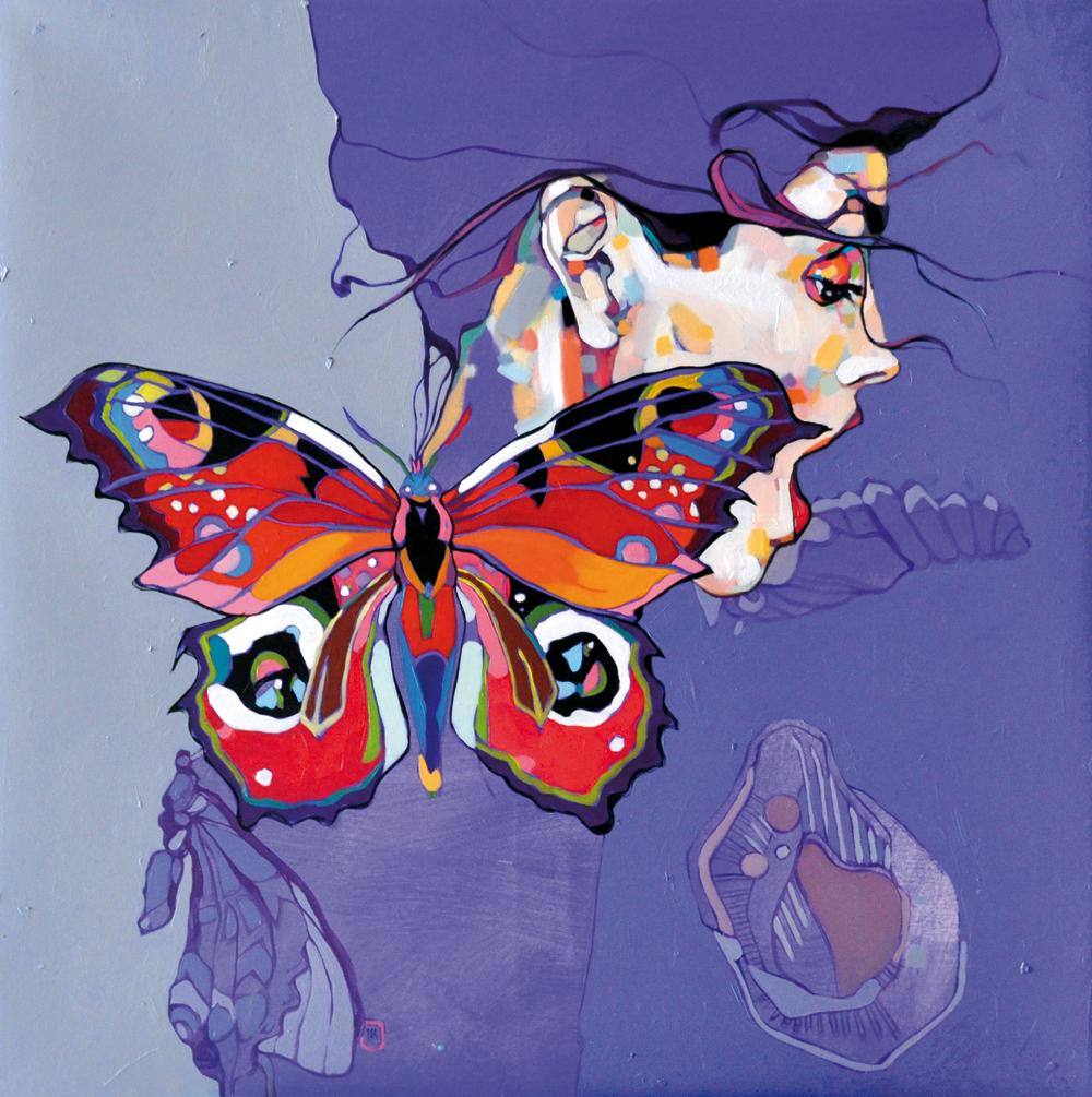 Dominik Jasiński, portret, portrait, kolorowe obrazy, obrazy akrylowe, nuede, akt kobiecy, malarstwo akrylowe, artysta i sztuka