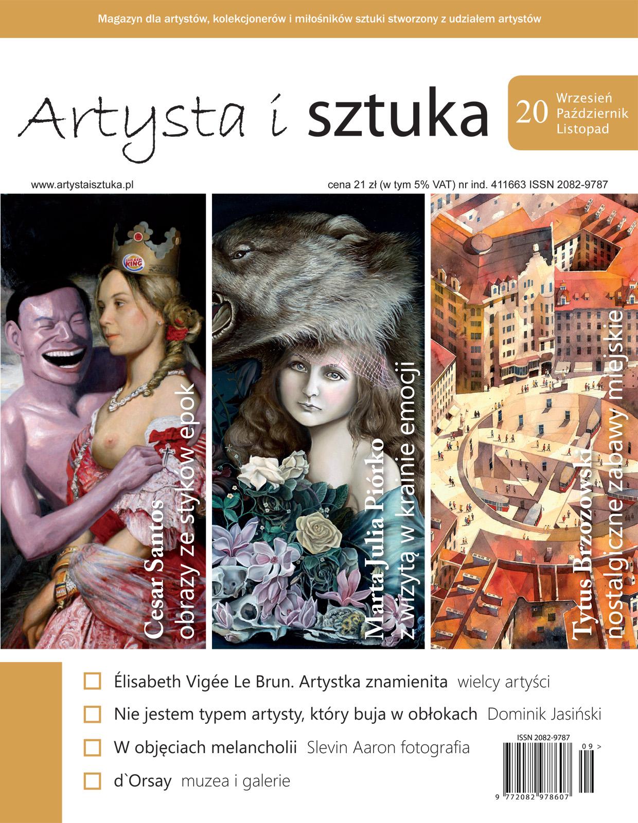 Artysta i Sztuka #20 jubileuszowy, malarstwo, rzeźba, grafika, street art, ilustracja, fotografia