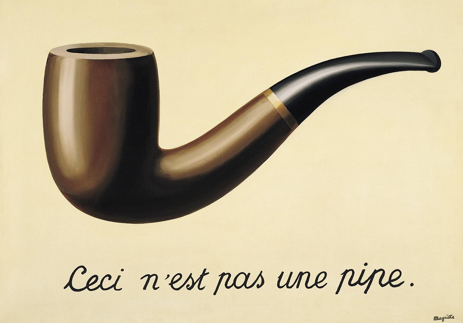 """Rene Magritte, """"To nie jest fajka"""", 1929"""