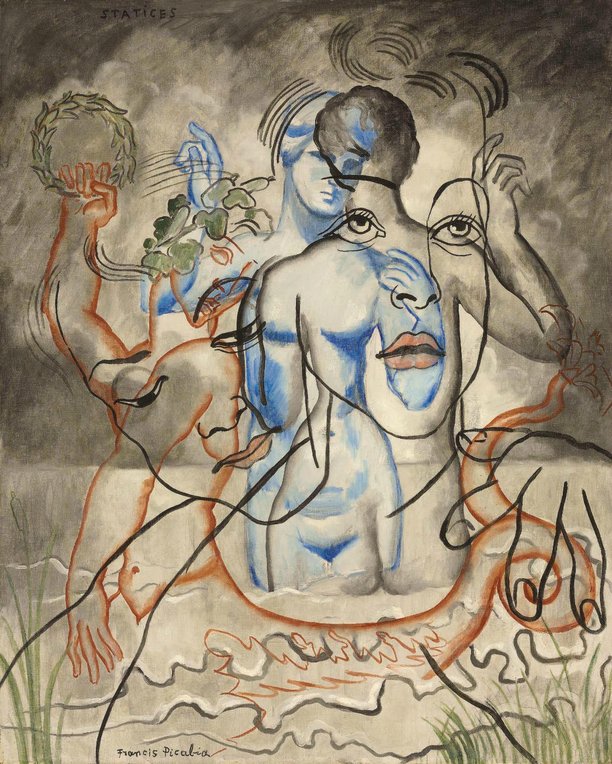 """Francis Picabia, """"Portrait erotique voile"""", ok. 1950, źródło: Christie's"""
