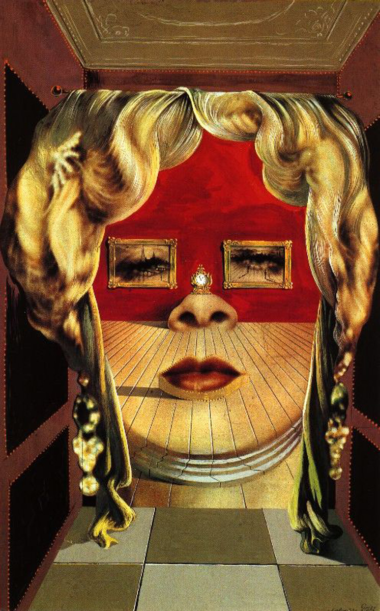 "Salvador Dali, ""Mae West's Face which May be Used as a Surrealist Apartment"", 1936, źródło: Christie's"