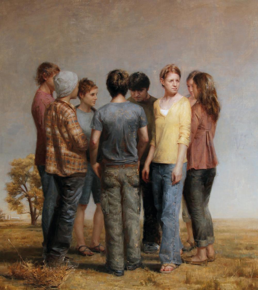 Zoey Frank, Departure, olej na płótnie, 137 x 122 cm