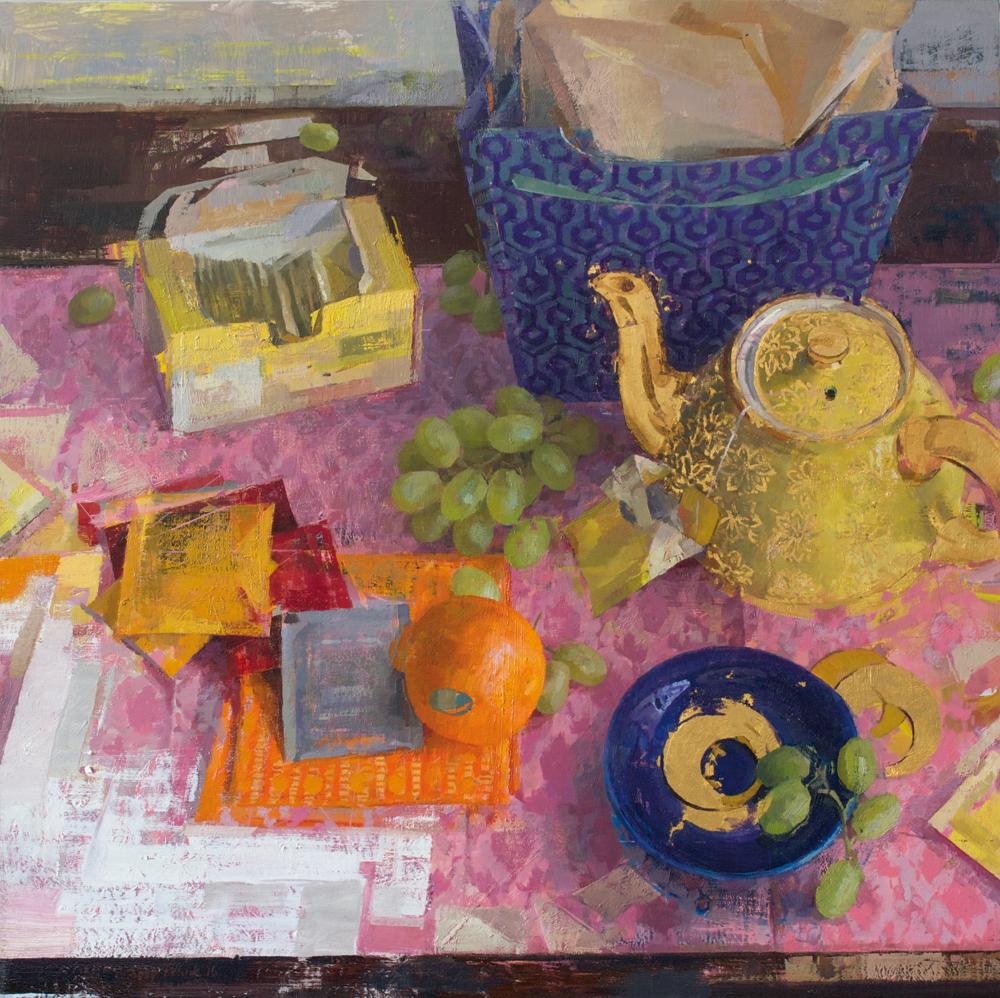 Zoey Frank, Parade, olej na płótnie, amerykańska malarka