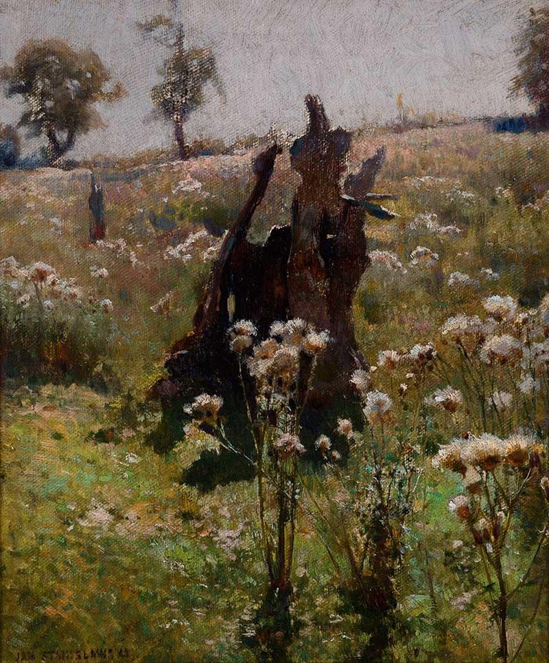 """Jan Stanisławski, """"Bodiaki"""", 1885, własność: Muzeum Narodowe w Krakowie"""