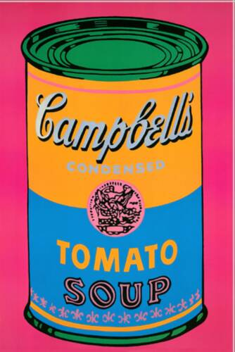 "Andy Warhol, ""Campbell's soup can (Tomato/pink), 1968"