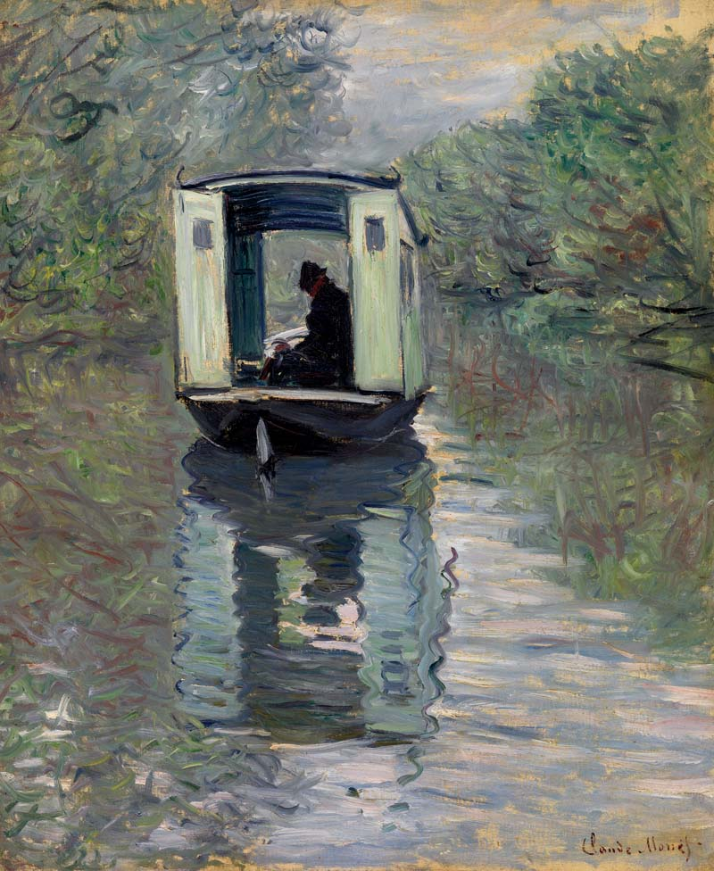 Claude Monet, 1840–1926, Łódź atelier. (Le Bateau-atelier), 1876. Olej na płótnie, 28 5/8 x 23 5/8 (72.7 x 60 cm). BF730. Zdjęcie: © 2012 The Barnes Foundation