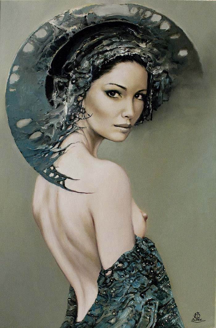 Karol Bąk, malarstwo, akt kobiecy