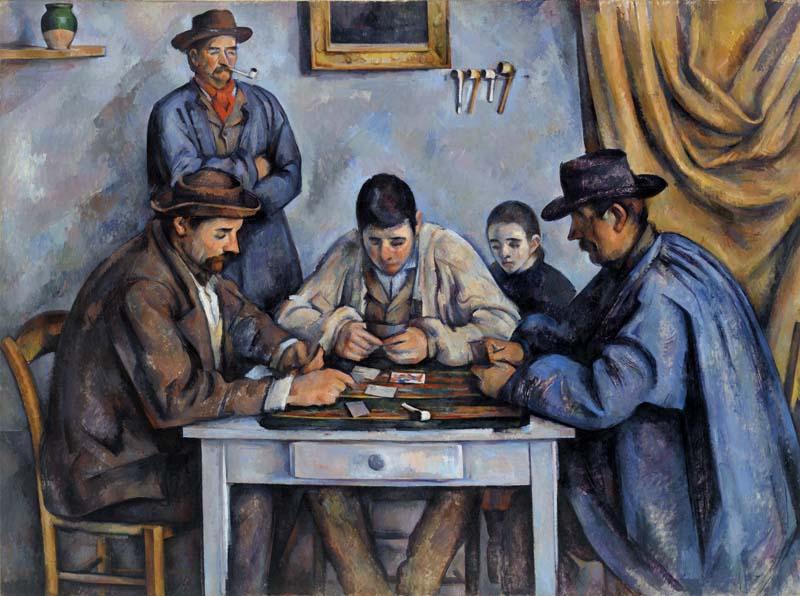 Paul Cézanne, 1839–1906. Grający w karty (Les Joueurs de cartes), 1890–1892. Olej na płótnie, 53 1/4 x 71 5/8 (135.3 x 181.9 cm). BF564. Zdjęcie: © 2012 The Barnes Foundation