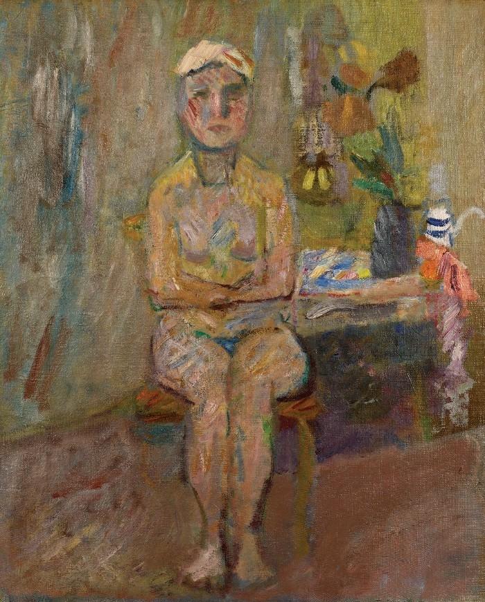 """Artur Nacht-Samborski, """"Akt"""", 1948, źródło: Muzeum Narodowe w Poznaniu"""