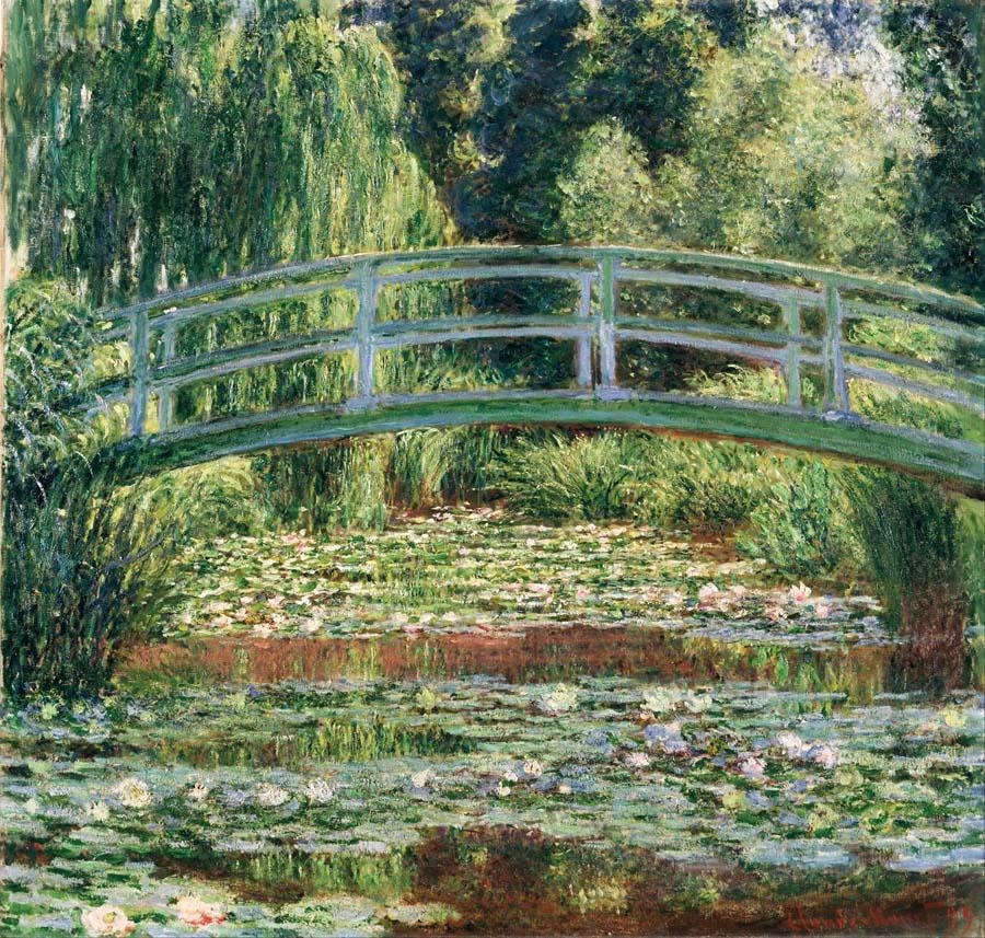 Claude Monet, Lilie wodne i most japoński, 1897-1899