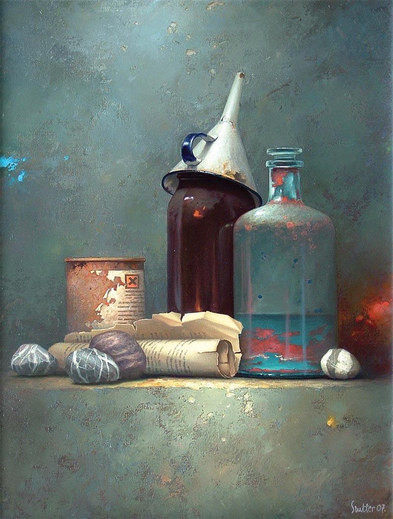 Edward Szutter, malarstwo, martwa natura, surrealizm, obrazy martwej natury