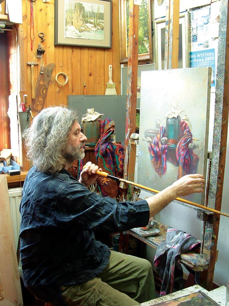 Edward Szutter pracownia Edward Szutter malarstwo, martwa natura, surrealizm, obrazy martwej natury