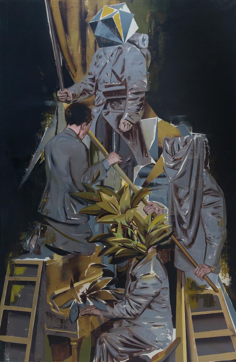 Jan Szczepkowski, Bellator, olej na płótnie, 180 x 120 cm, 2016