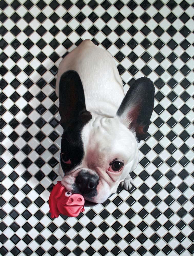 Tomasz Poznysz, Milkshake, tempera i olej na płótnie, 130 x 100 cm, 2016