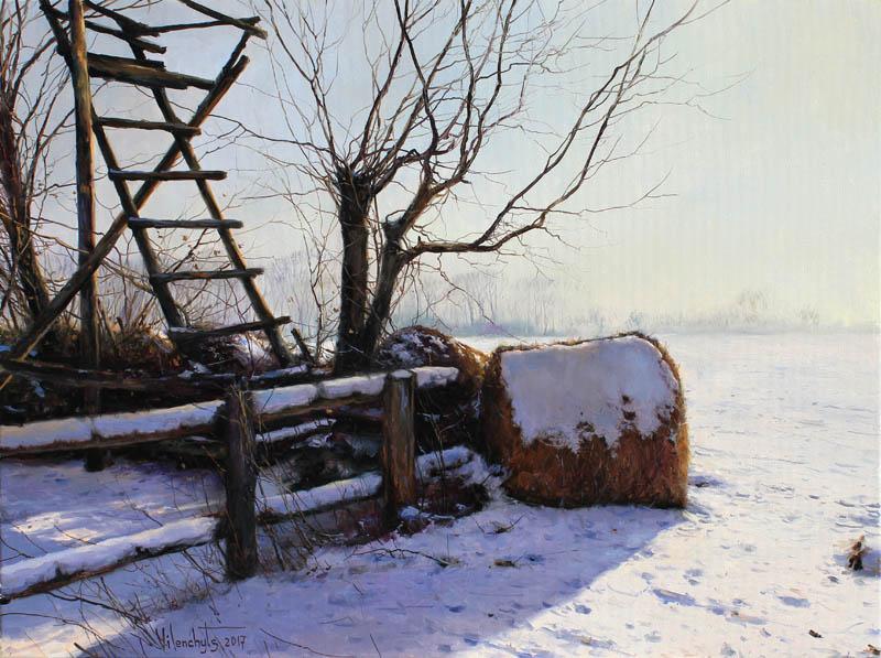 Vladimir Vilenchyts, Przy ambonie, 60 x 80 cm, olej na płótnie