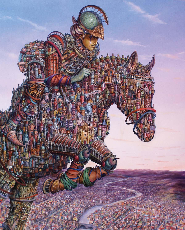 Tomasz Sętowski, Aleksander Zdobywca, olej na płótnie, 120 x 100 cm