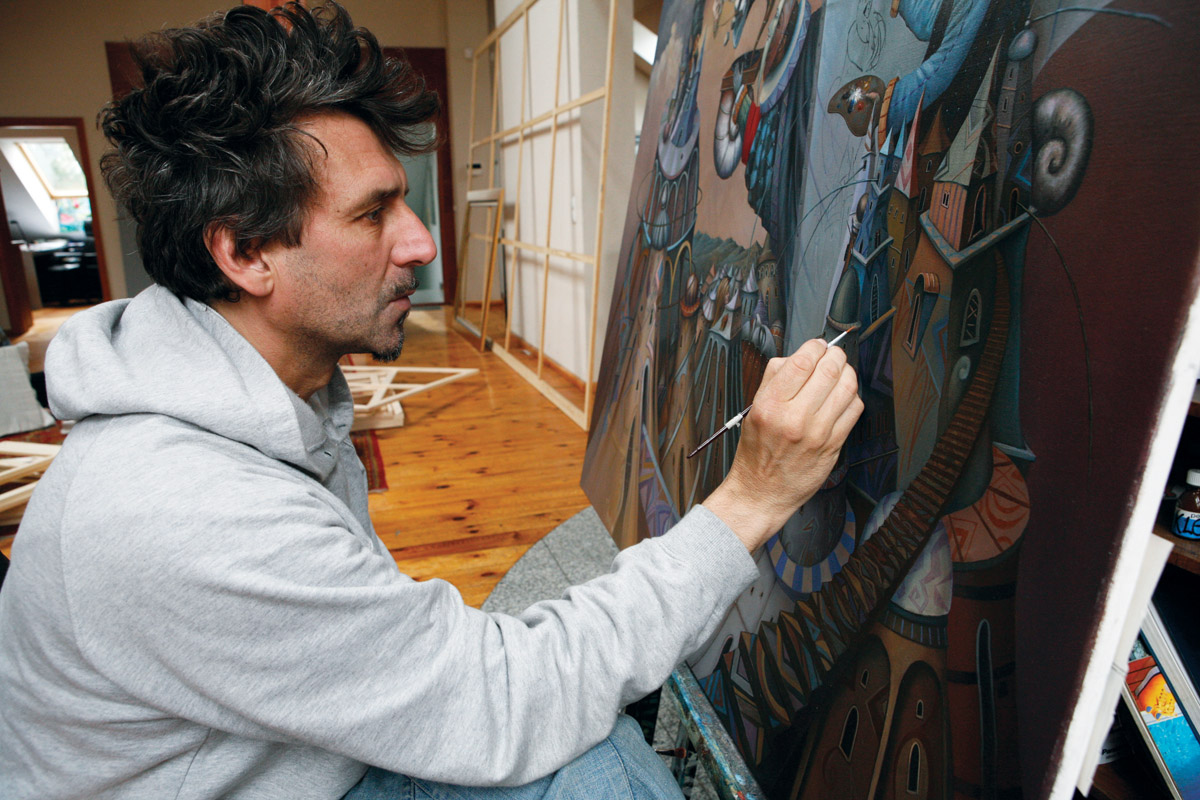 Tomasz Sętowski, surrealizm, malarstwo, polish artist