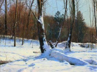 Vladimir Vilenchyts, Słoneczny dzień, olej na płótnie