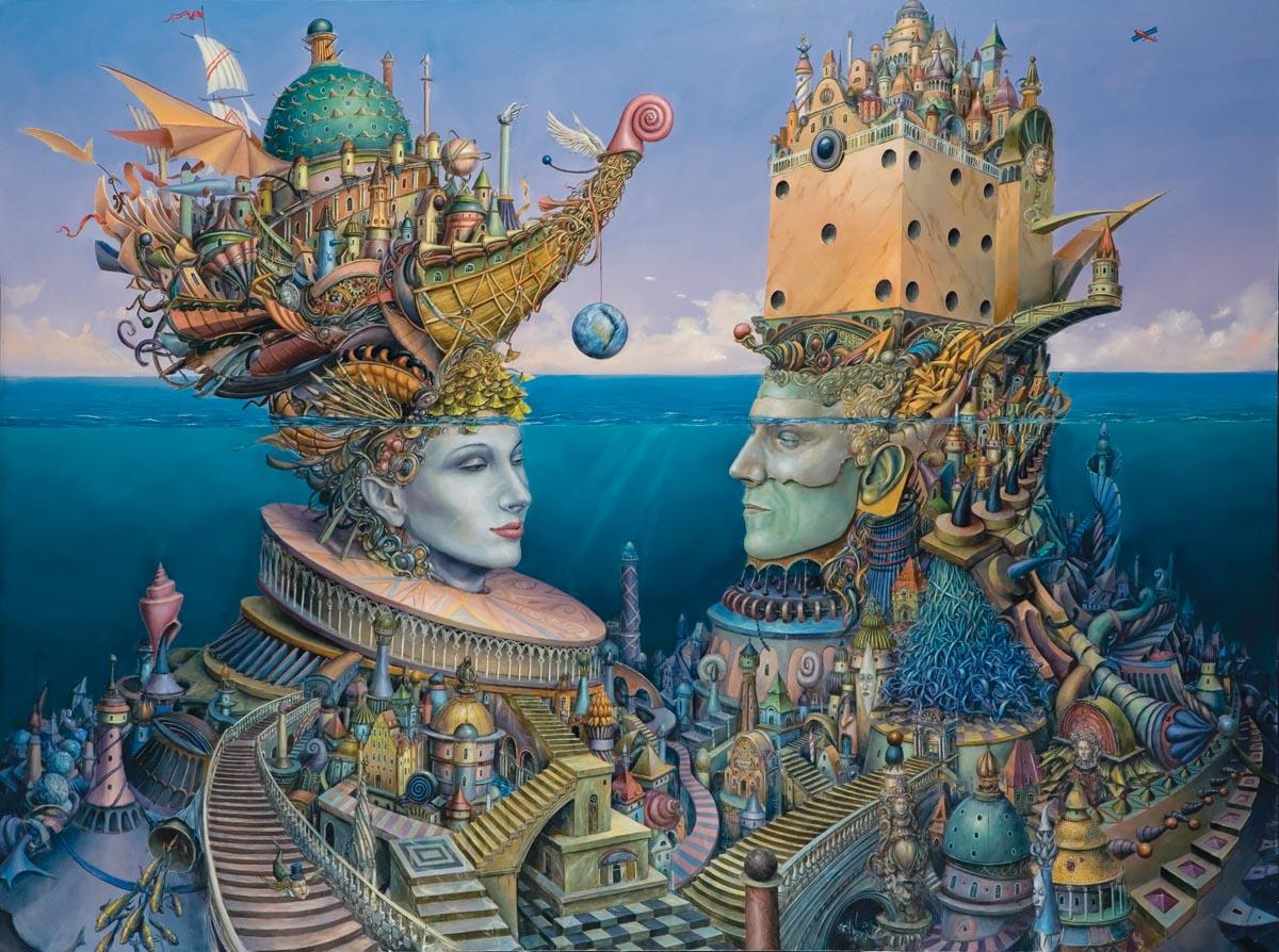 Tomasz Sętowski, Ocean myśli, olej na płótnie, 130 x 180 cm
