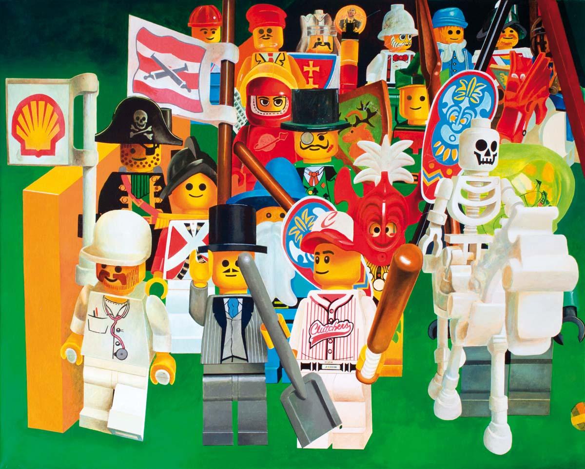 Zbigniew Gorlak obrazy, lego, kolaż, malarstwo, akryl, akryl na płótnie, malarz, malarstwo