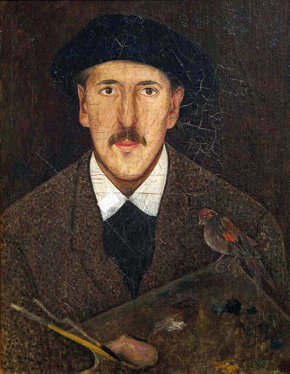 Tadeusz Makowski, Autoportret, 1917-1921, Muzeum Narodowe w Krakowie artysta i sztuka 23