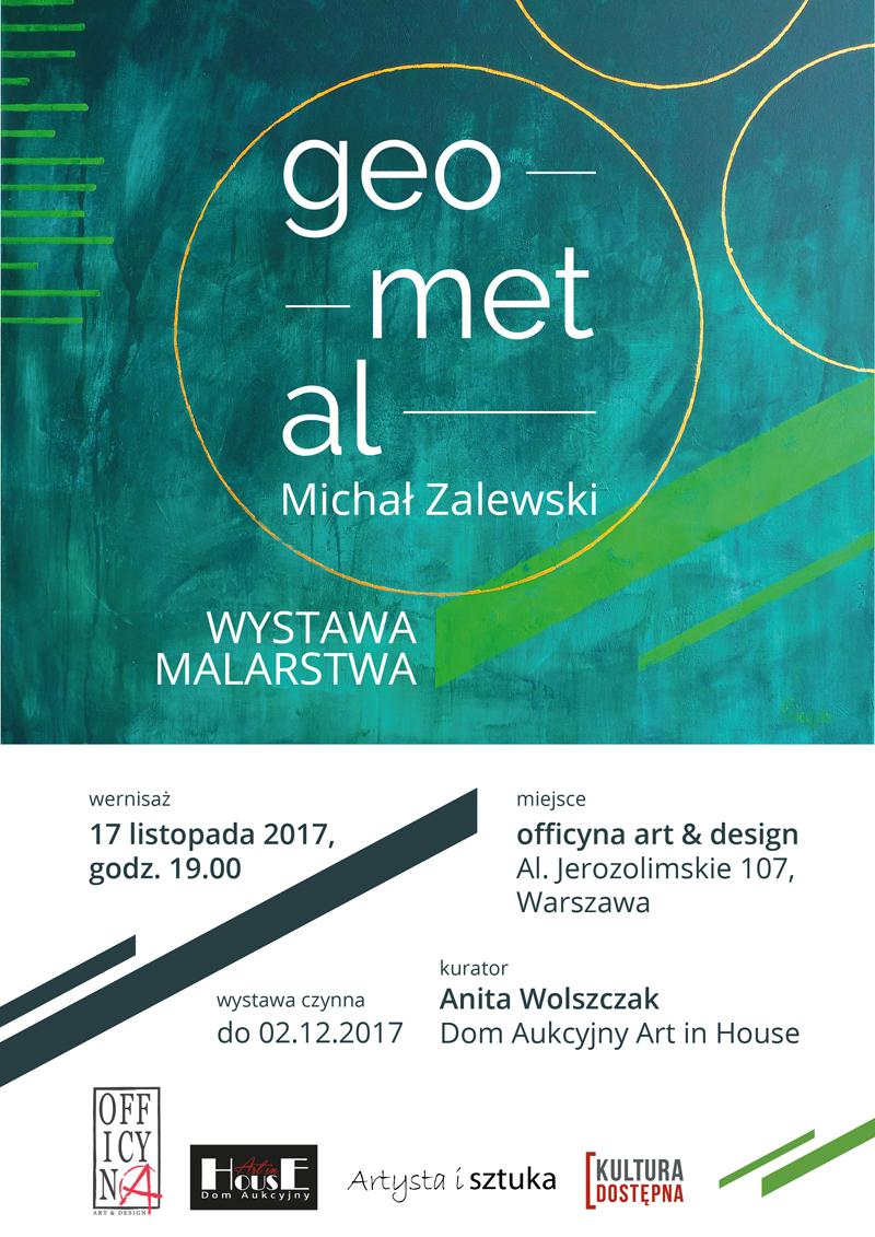 wystawy malarstwa Michała Zalewskiego, officyna, plakat