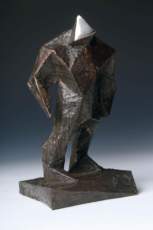 Paweł Orłowski, Golem, odlew z brązu, 25 x 16 cm