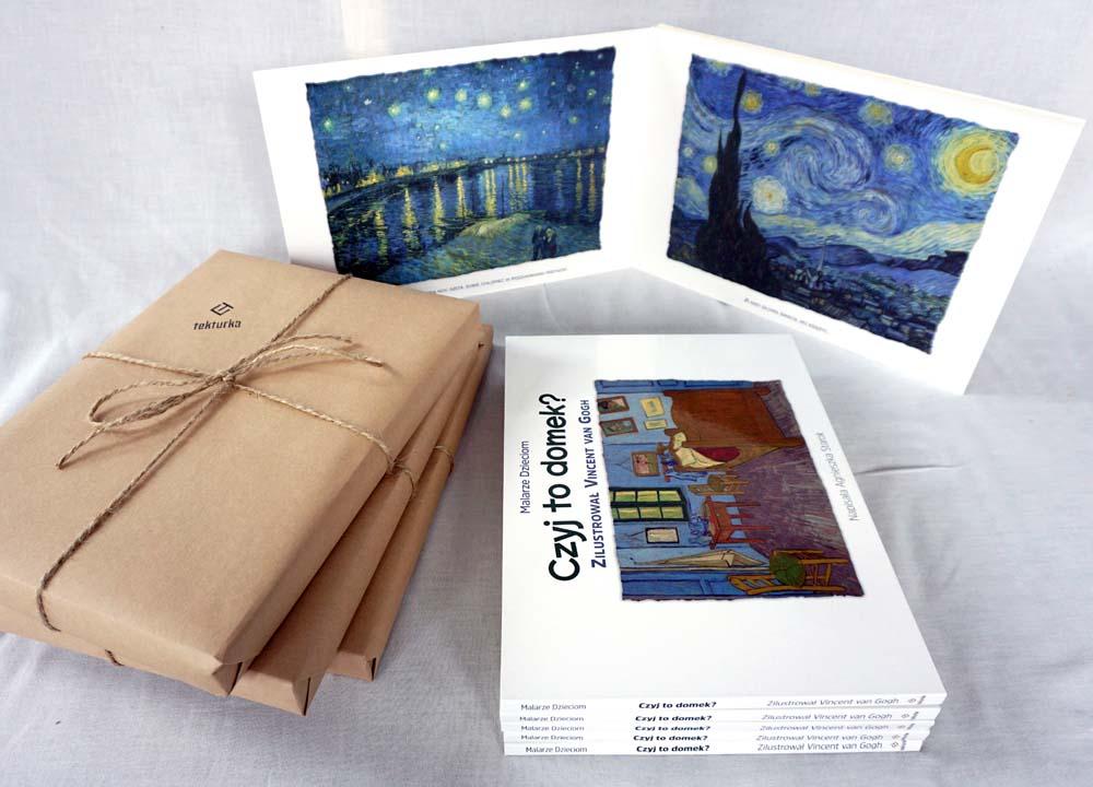 """""""W sekretnym ogrodzie"""" , książka ilustrowana obrazami Vincenta van Gogha"""