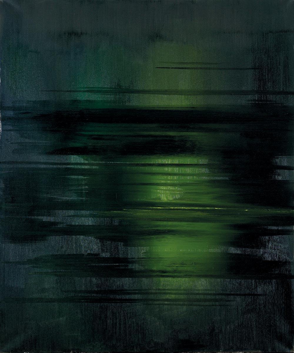 Stanisław Baj, Rzeka Bug, olej na płótnie, 120 x 100 cm, 2016