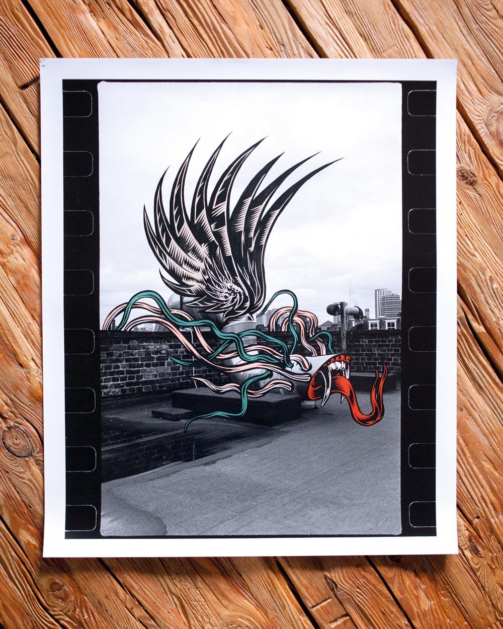 Clashes 04 Maksym Rudnik x Pawel Swanski acrylics on silver gelatin print 50 x 60 cm copy