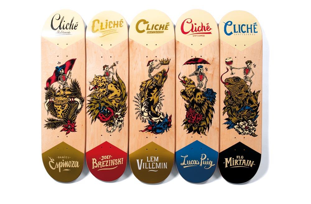 swanski CLICHE skate boards